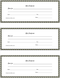 printable gift certificate templates sles certificates
