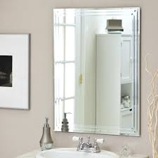 frameless beveled mirror. Decor Wonderland Frameless Tri Bevel Wall Mirror - 23.5W X 31.5H In., Multi Beveled G
