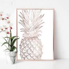 printable pineapple poster large vertical art rose gold on rose gold wall art large with printable pineapple poster large vertical art rose gold dreamy