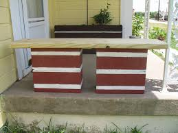 cinderblock furniture. Cinder Block Bench Simple Cinderblock Furniture