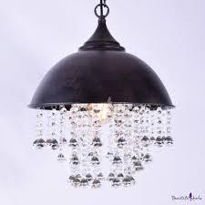 interior industrial lighting fixtures. Industrial Retro Large Pendant Light With Hanging Crystal Interior Lighting Fixtures I