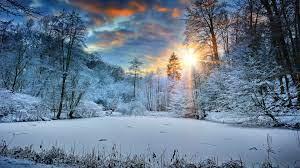 Wallpaper 4k Sunbeams Landscape Snow In ...