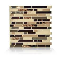 Peel And Stick Decorative Mosaic Wall Tile Smart Tiles Bellagio Keystone 10001000 in W x 1000 in H Peel and Stick 2