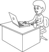 office desk clipart black and white.  And Office On Desk Clipart Black And White S