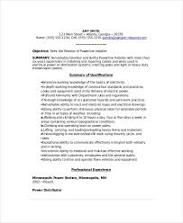Power line Installer Resume