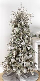 2017 gold silver christmas tree inspiration trendy tree with regard to christmas tree decorations 2017 with ribbons
