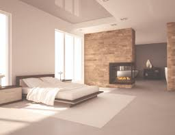 Small Gas Fireplace For Bedroom Decoration Cozy Luxury Stylish Modern Open Master Bedroom Bathroom
