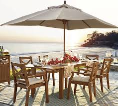 Monaco Outdoor Dining Table Umbrella In Calico Hanover With Best 25