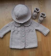 Hand Knitted Sweaters Designs For Baby Girl Baby Girl Cardigan Hat And Bootie Set Hand Knitted Baby