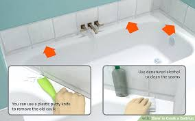bathtub sealant how to caulk a bathtub 10 steps with pictures wikihow