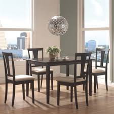 coaster fine furniture black 5 piece dining set with dining table