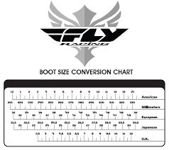 Fox Riding Boots Size Chart Fly Racing Boots Sizing And Conversion Chart Motorcycle Stuff