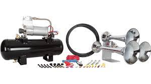 hornblasters outlaw 228v chrome train horn kit outlaw 228v chrome train horn kit photo