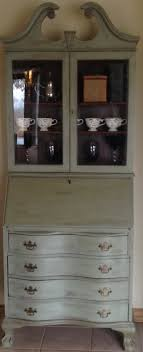 vintage antique gany secretary desk hutch french country hand painted with annie sloan