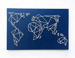 geometric world map string art map wall art modern on diy string map wall art with geometrische kaart string kunst kunst aan de muur kaart string art