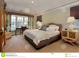 Master Bedroom With Tray Ceiling. Luxury, Dwelling.