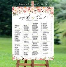 Wedding Seating Chart Poster Board Wedding Seating Chart Template Wedding Seating Chart Poster