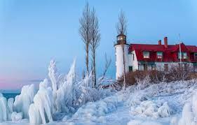 Wallpaper ice, winter, sea, the sky ...