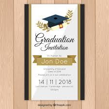 Elegant Graduation Announcements Elegant Graduation Invitation Template With Golden Style Nohat