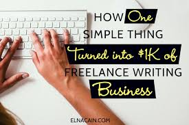 how one simple thing turned into k of lance writing business how one simple thing turned into 1k of lance writing business elna cain