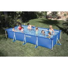 intex rectangular frame pool 450x220x84cm intex above ground pool rectangle x37 ground