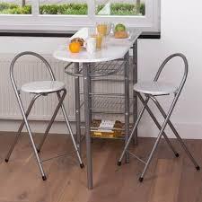 Ensemble Table Bar 2 Tabourets Blancs Achat Vente Table De