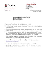 Carleton Acceptance Letter