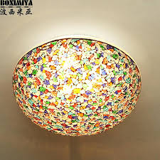 ceiling lights mosaic ceiling light bedroom stained glass living room porch lamp in lights from