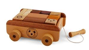 soopsori wooden blocks with pull wagon