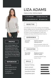 Free Fashion Designer Resume Resume Fashion Designer Resume