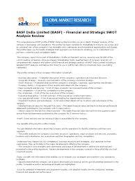 basf limited basf financial and strategic swot analysis basf limited basf financial and strategic swot analysis review swot analysis financial ratio