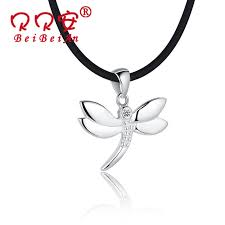 get ations s990 fine silver necklace female korean fashion accessories dragonfly pendant short paragraph personality does not fade