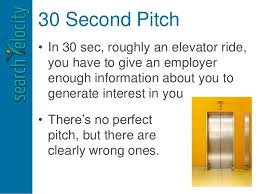 30 Sec Elevator Speech 30 Second Speech Barca Fontanacountryinn Com
