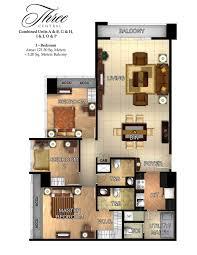 3 bedroom condos. 3 bedroom combined with balcony 126 7 m. pre furnished condo in three condos