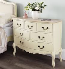Shabby Chic Cream Bedroom Furniture Shabby Chic Champagne 6 Drawer Chest Bedroom Furniture Direct