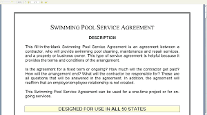 sample cleaning contract agreement template cleaning contract template swimming pool service agreement