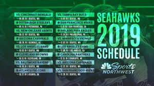 Depth Chart Seattle Seahawks 2018 The 2019 Seattle Seahawks Regular Season Schedule Is Here