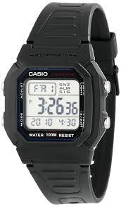amazon com casio men s w800h 1av classic sport watch black amazon com casio men s w800h 1av classic sport watch black band casio watches