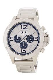 armani exchange men s stainless steel chronograph bracelet watch image of armani exchange men s stainless steel chronograph bracelet watch