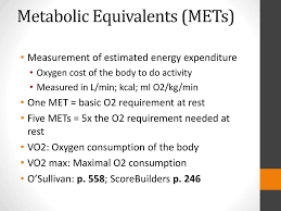 Exercise Stress Test Mets Chart Cardiac Rehabilitation And Exercise Prescription Ppt Video