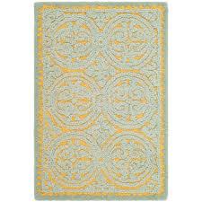 safavieh cambridge blue gold 3 ft x 4 ft area rug