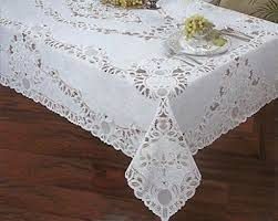 crochet lace vinyl tablecloth 60 inch by 90 inch oblong rectangle
