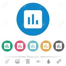 Chart Flat White Icons On Round Color Backgrounds 6 Bonus Icons