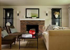 minneapolis brick fireplace mantel living room farmhouse