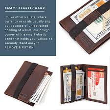 Slim Wallet - Case Ultra RFID Bifold Mens Thin Men Leather Card