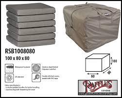 raffles covers storage bag for patio cushions 100 x 80 h 80 cm