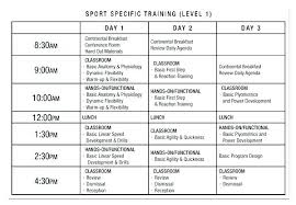 Gym Exercise Planner Sample Training Plan Template