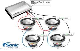 4 subs svc 4 ohm 2ch bridged in speaker wiring diagrams wiring 4 subs svc 4 ohm 2ch bridged in speaker wiring diagrams