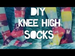 diy tie dye knee high socks