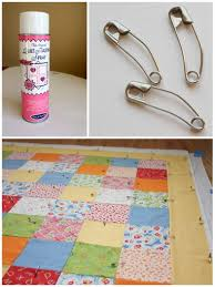 Quilt Along Series: Sewing the Quilt Together | Make and Takes & Now is the time to baste all layers together. There are two options that  work best for machine quilting: spray baste and/or safety pins. Adamdwight.com